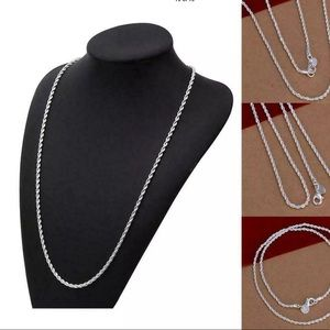 NWT Beautiful sterling silver Rope chain very nice